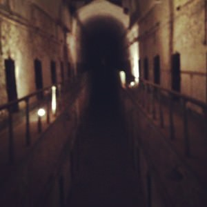 An eerie view from Cell Block 7 at Eastern State Penitentiary.