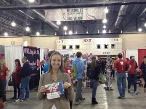 Picking up my bib at the Philadelphia Marathon Expo