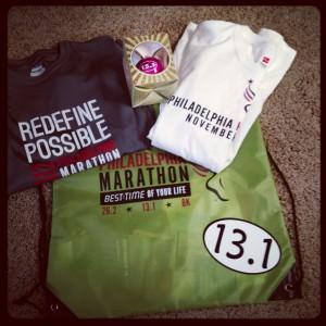 Goodies from the Philadelphia Marathon Race Expo