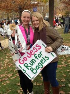 Jessica and Jamie at the Philadelphia Half Marathon