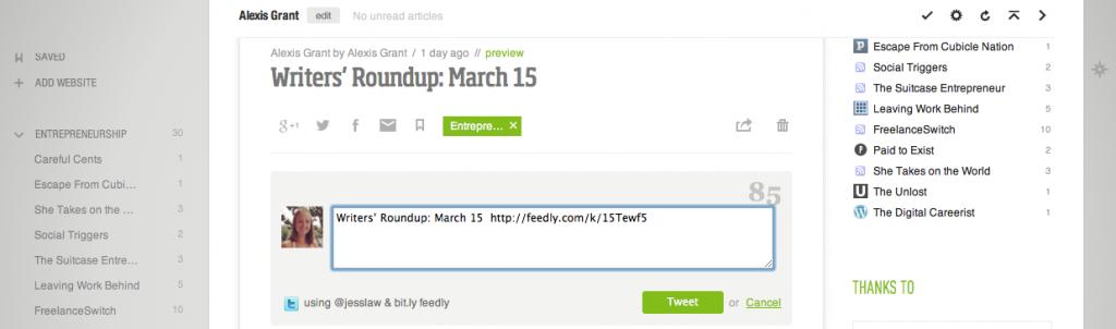 Feedly's Social Media Integration