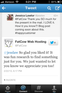 Thank you, FatCow!