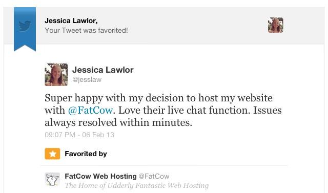 FatCow Tweet