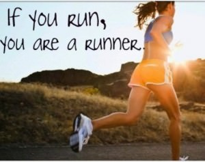 If you run, you are a runner