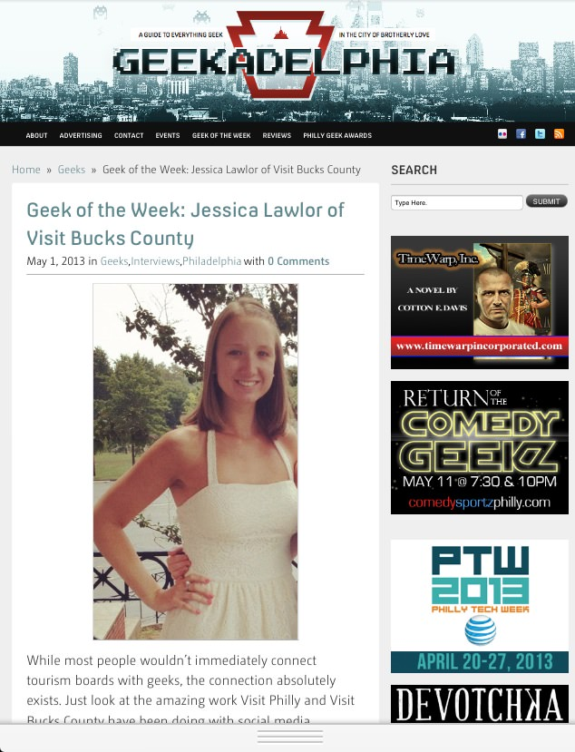 Geek of the Week: Jessica Lawlor