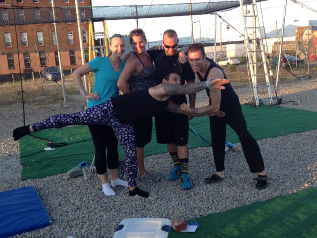 Me and the fabulous team at Fly School Circus Arts in Philadelphia