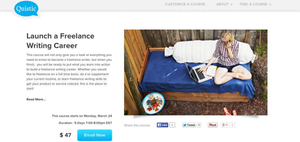 launch a freelance writing career course- Jessica Lawlor