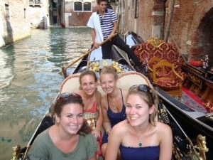 A gondola ride in Venice...I'm sorry, can we all quickly take a look at Lorenzo in the back there?!