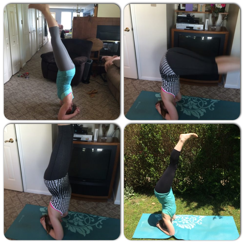 working on forearm headstand- Jessica Lawlor