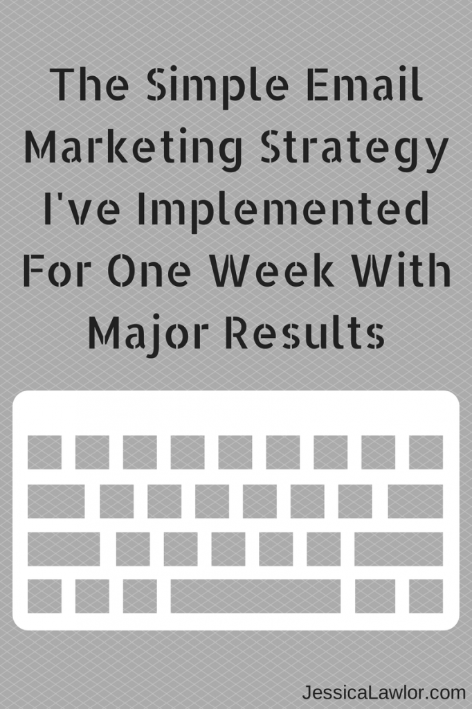 email marketing strategy- Jessica Lawlor