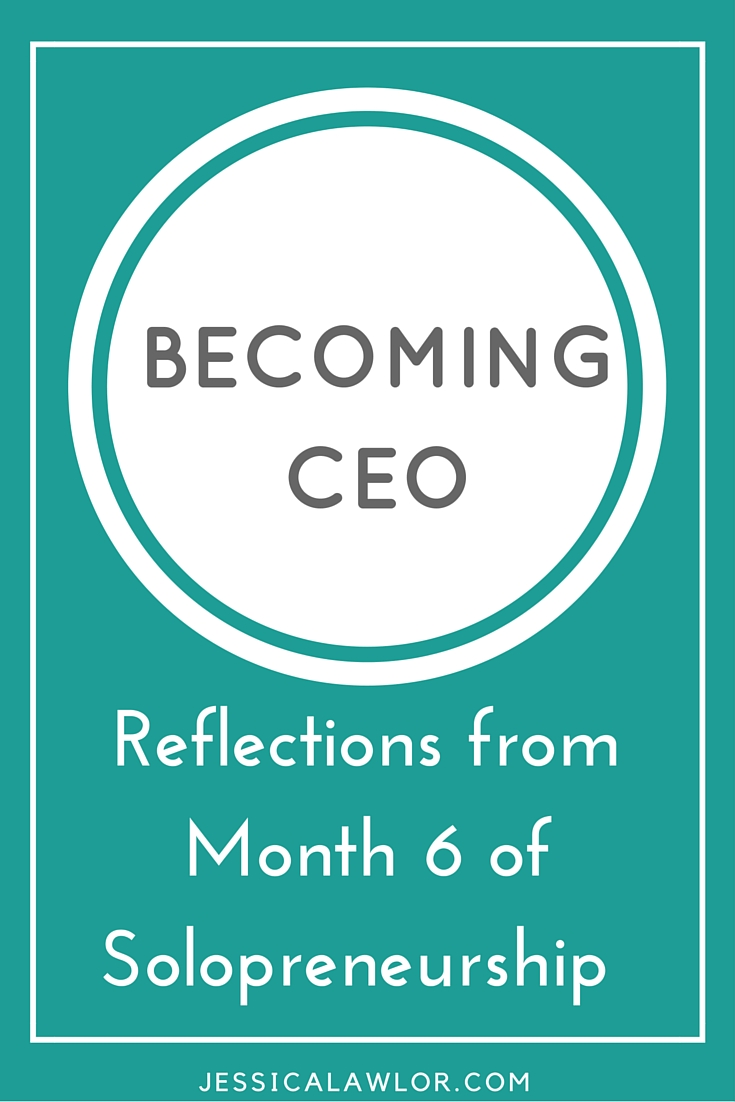 In the Becoming CEO series, I detail how I'm starting and running my own solo biz. Here are reflections (& an income breakdown) from month six.