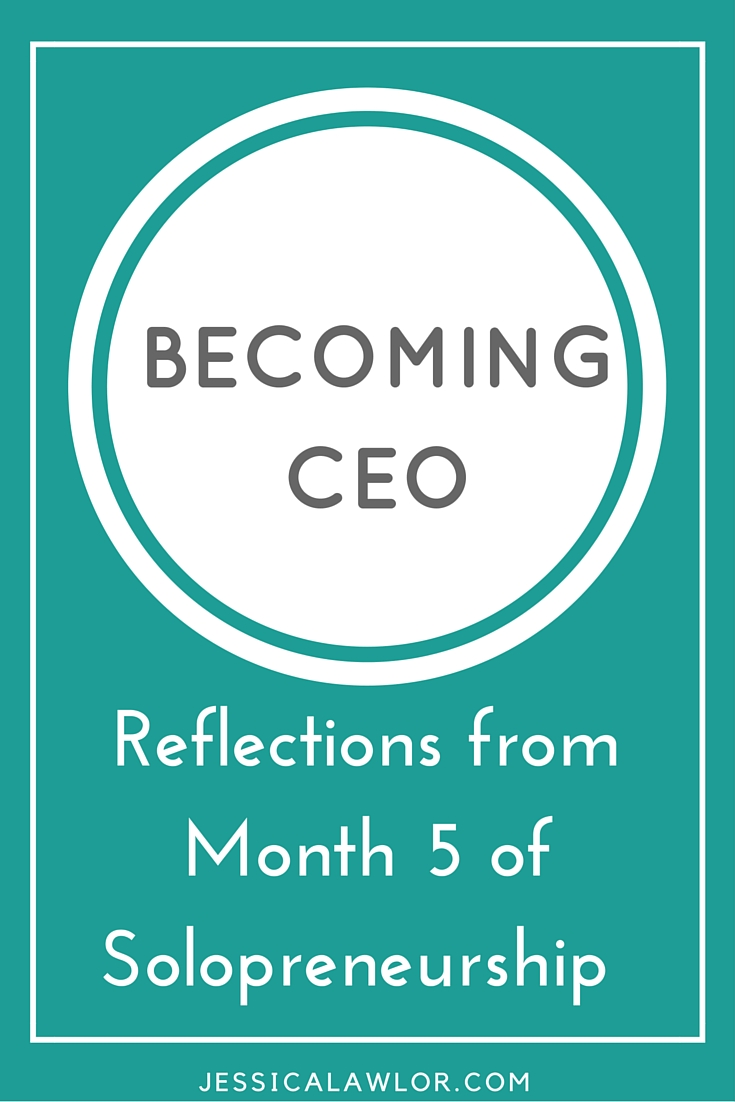 In the Becoming CEO series, I detail how I'm starting and running my own solo biz. Here are reflections (& an income breakdown) from month five.