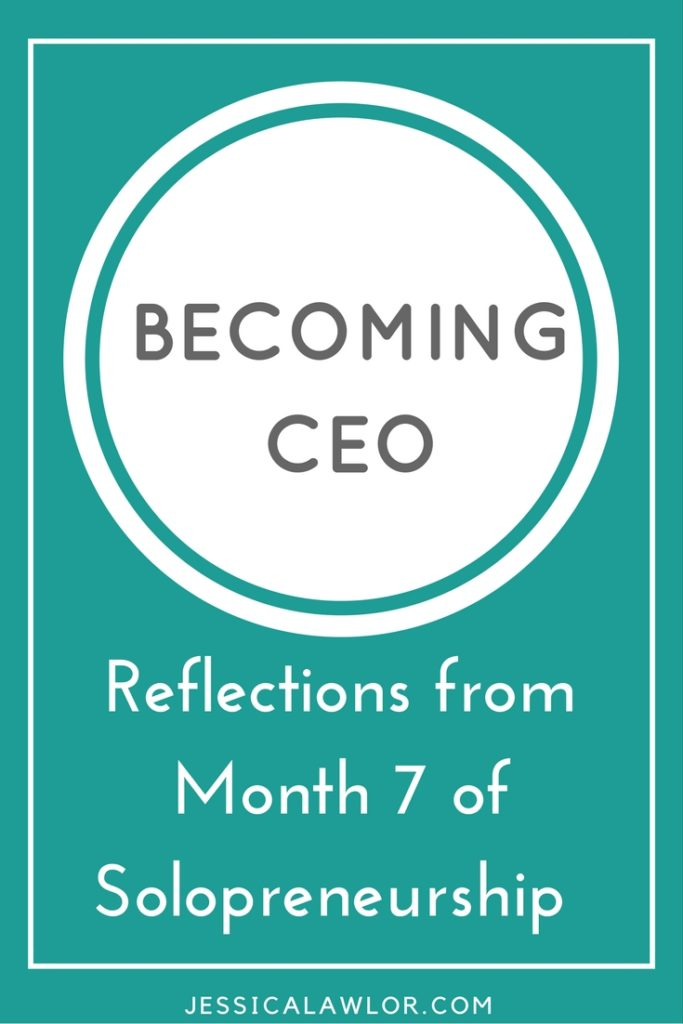 In the Becoming CEO series, I detail how I'm starting and running my own solo biz. Here are reflections (& an income breakdown) from month seven.