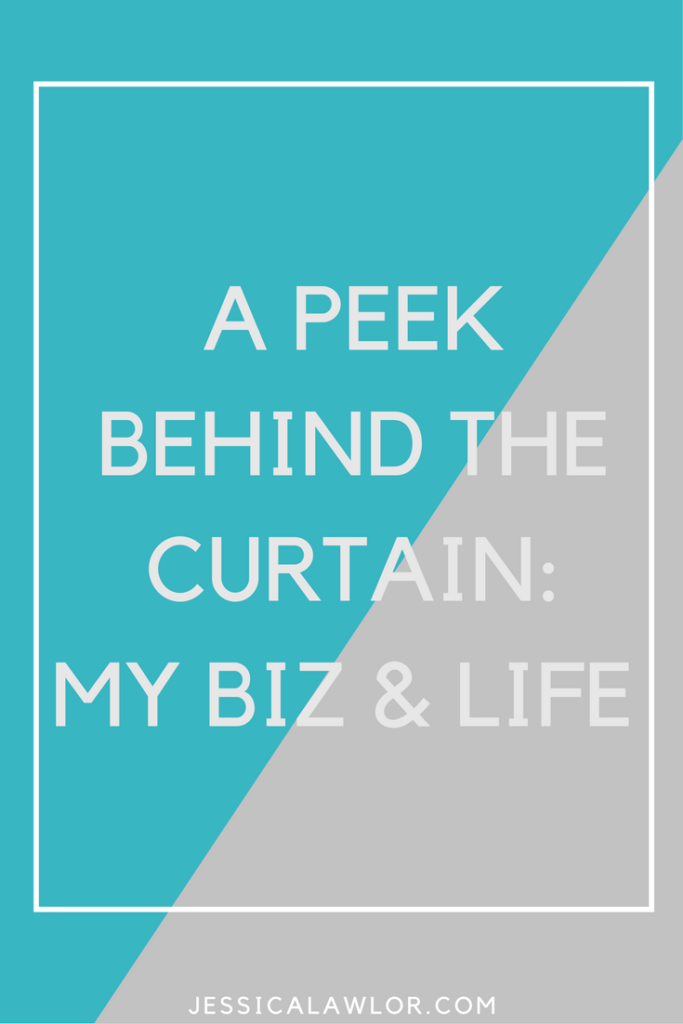 Let's get transparent! It's time for a peek behind the curtain at what's going on in my business and my life, the good, the bad and everything in between.