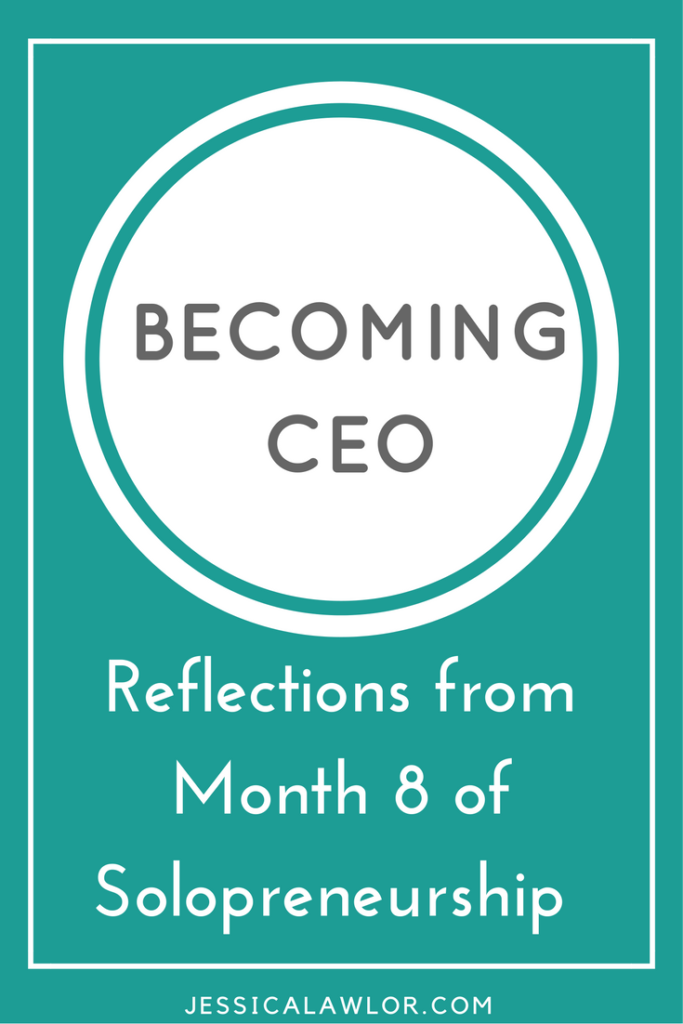 In the Becoming CEO series, I detail how I'm starting and running my own solo biz. Here are reflections (& an income breakdown) from month eight.