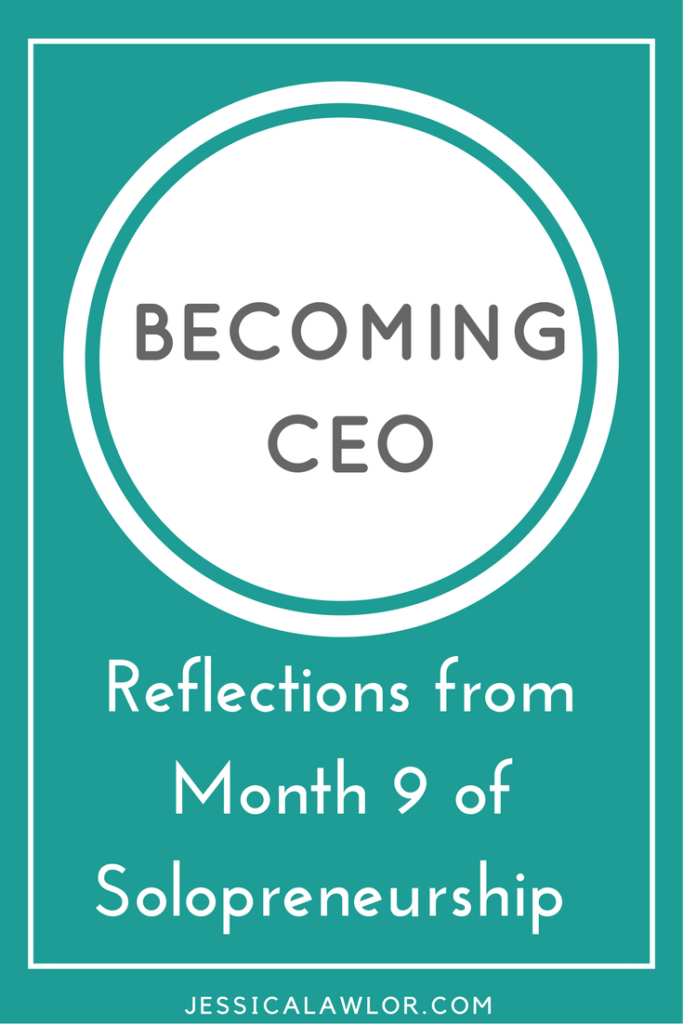 In the Becoming CEO series, I detail how I'm starting and running my own solo biz. Here are reflections (& an income breakdown) from month nine.