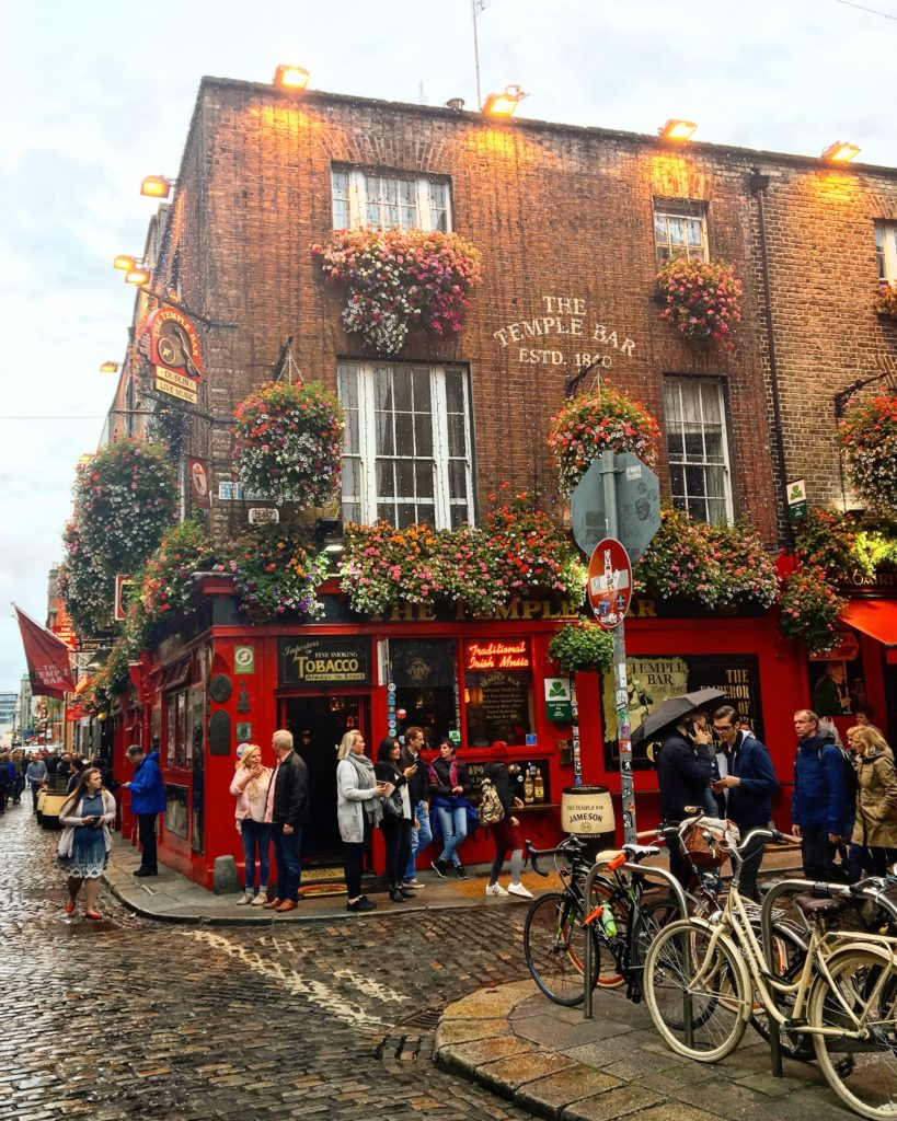 The famous Temple Bar in Dublin, Ireland -- Ireland Travel Guide