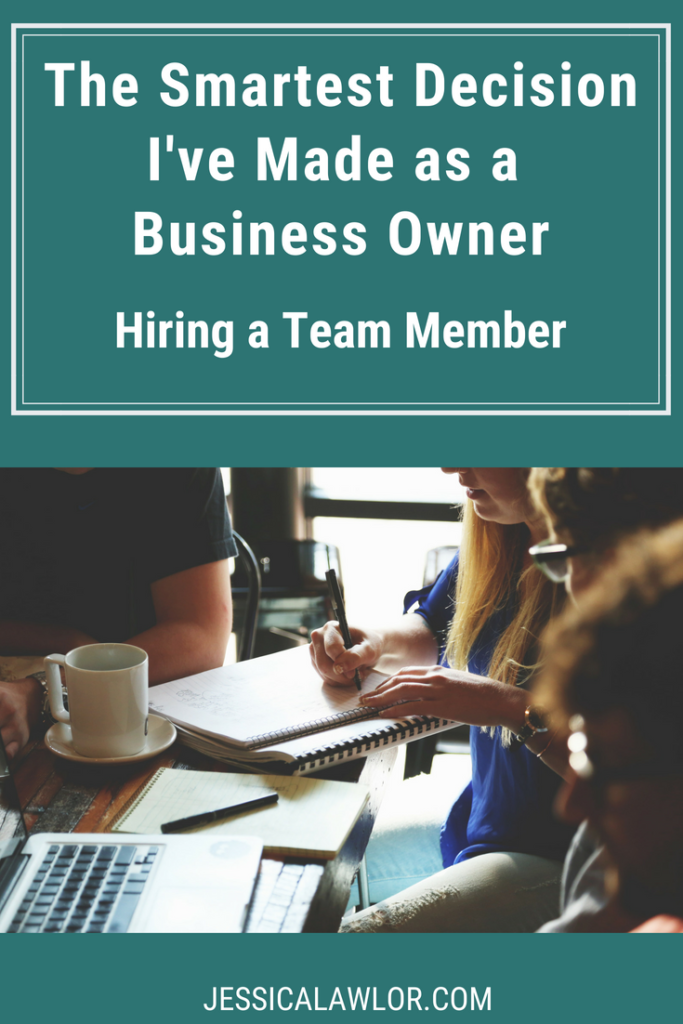 Hiring a team member has been the single smartest decision I've made as a business owner. Here's how hiring a team member has helped me grow JL&Co.