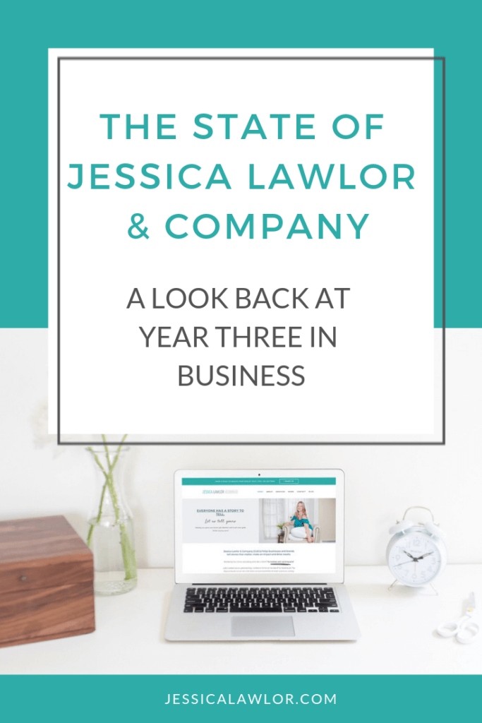 Jessica Lawlor & Company (JL&Co) just celebrated its third year in business! Find out how we made money and what's to come in year four.