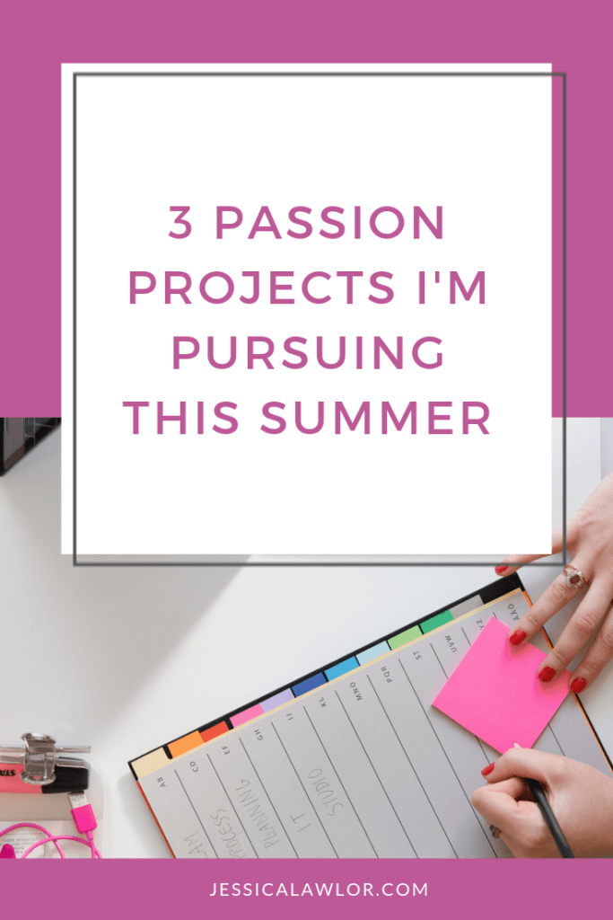 I'm ready to dive headfirst into my passion projects. Here's how I'll be spending some of my time over the next few months.